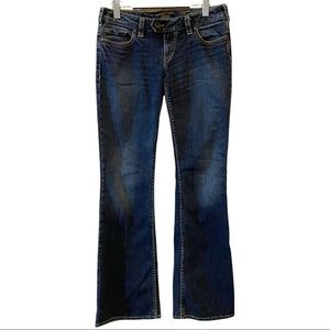 Silver jeans Tuscan bootcut blue jeans. Dark wash size 29 VGUC